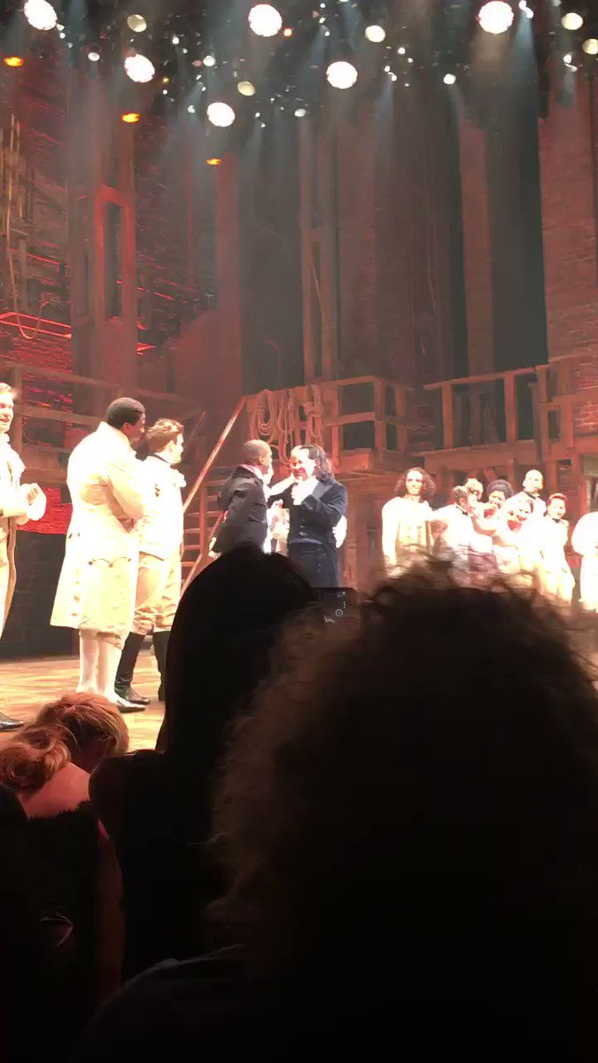 #OTD 4 years ago, @Lin_Manuel Miranda took his last bow as #Hamilton at the Rodgers Theatre, not long after the #HamilFilm was filmed, and our founder was in the room were it happened. Cheering for you, now and then. In a theater and from home. 💛