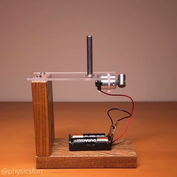 Vibration Unthreading: a DIY project to see if just shaking a bolt at the right frequency could make a standard nut rotate and fall off. Here a small DC motor spins an offset mass to produce the vibrations. #science #physicspic.twitter.com/rRUZo7OMNl