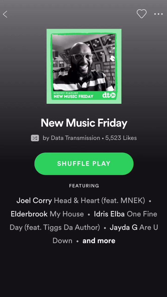 @datatrans #newmusicfriday thanks for the @Spotify playlist addition 🙌🏼 open.spotify.com/playlist/7JfAr…