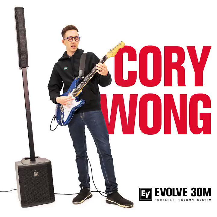 How does @corywong #MixItUpWithEV? Optimizing your sound with the EVOLVE 30M is super easy, thanks to studio-quality on-board effects and pre-sets. For Cory Wong, the EVOLVE 30M makes finding his signature clean sound effortless! #EVOLVE30 #ElectroVoice #CoryWong #PAspeaker
