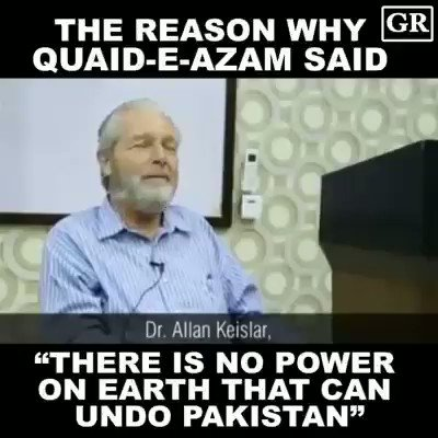 Anyone wondering, why #Pak was created. I just remember those words from #Jinnah that there is no power on Earth that can undone #Pak. We will lead the world in sha ALLAH. https://t.co/mqgmIcA2vd