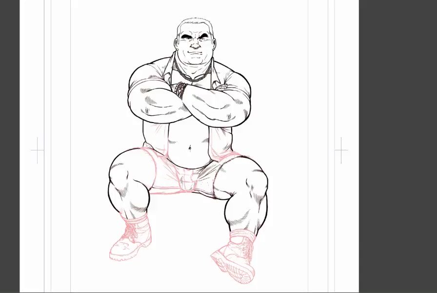 #bara #gaybear #timelapse #timelapsevideo #inking #ink #workinprogress #myart #myartwork #daddy #gaydad #gaydaddy #leg #shoes  Didn't feel to work on the comics today... but I will go back to it tomorrow. Promised.