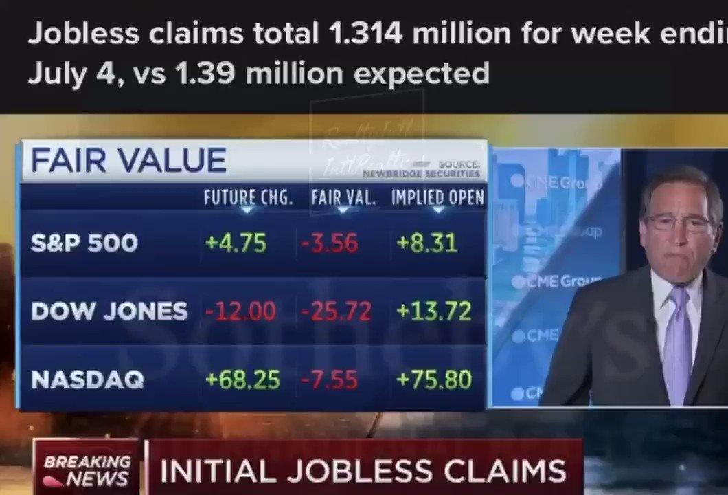 Unemployment Claims slightly lower than Analysts predicted for USA.     #thursdayvibes #Economics #economy #economicrecovery #unemployment #Finance #fintwit #بداية_ثورة_نسوية #pic.twitter.com/BcmjdAgQuD
