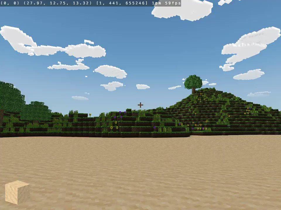 MinecraftクローンのCraftにmrubyを組み込んで遊ぶ(3) Fiberを組み込んでアニメーションできるようにした。書いたスクリプトはこれだけ