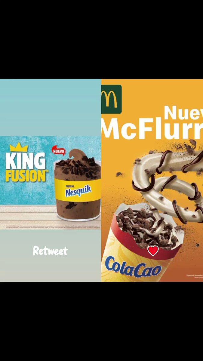 Que empiece la 3ªGM                                 Nesquik VS ColaCao                                 Tú eliges 👹                                                   #McFlurry #KingFusion