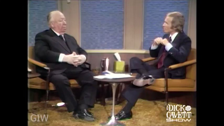 """Alfred Hitchcock talks about Rope (1948) and the """"prodigious job of production"""" it represented.   He later called Rope an """"experiment that didn't work out"""".  #filmtwitter #film #hitchcock #interviews #dickcavett #Filmmaking pic.twitter.com/KAhXvV8s0R"""