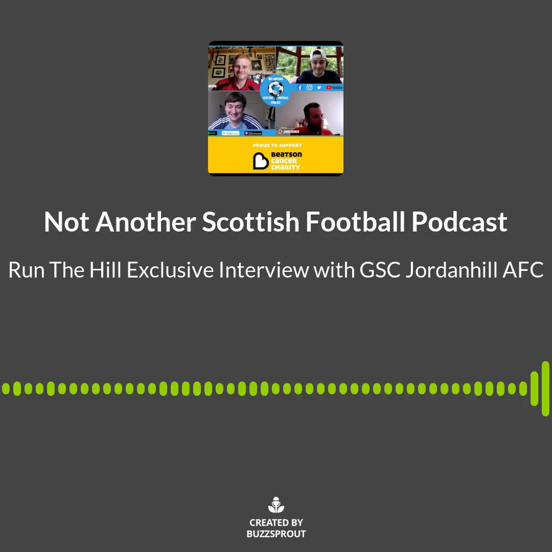 14,000+ miles around the world, 48 hours, £21,000+ raised for @Beatson_Charity  Listen to Iain Brown & Jamie Parker from @JordanhillAFC on Saturday @ 6PM talk about their incredible #RunTheHill Campaign. Listen on your usual podcast provider or watch the interview on Youtube. 1/2