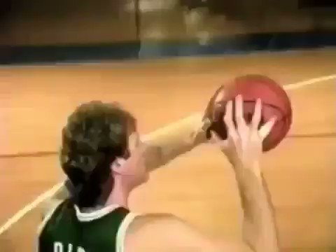 """Larry Bird talks about shooting a basketball .. wait for the end. """"Of course me ya know."""" 🤷♂️"""
