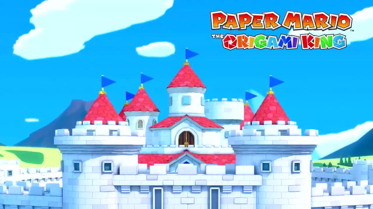 🔊 Turn up the volume and have a listen to the title theme for #PaperMario: The Origami King, releasing 17/07! Just think about the adventures that are about to unfold…