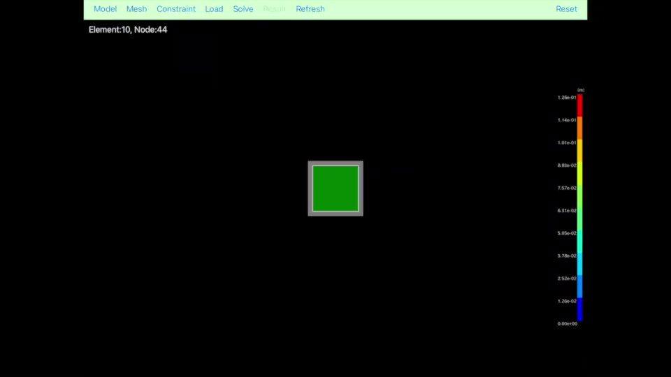 iPhoneアプリ[FEM BLOCKi]で有限要素法解析をやってみた第1回 片持ち梁の静解析操作実況動画です。YouTubeはなかなか見てもらえないので倍速バージョンでTwitter投稿。。。