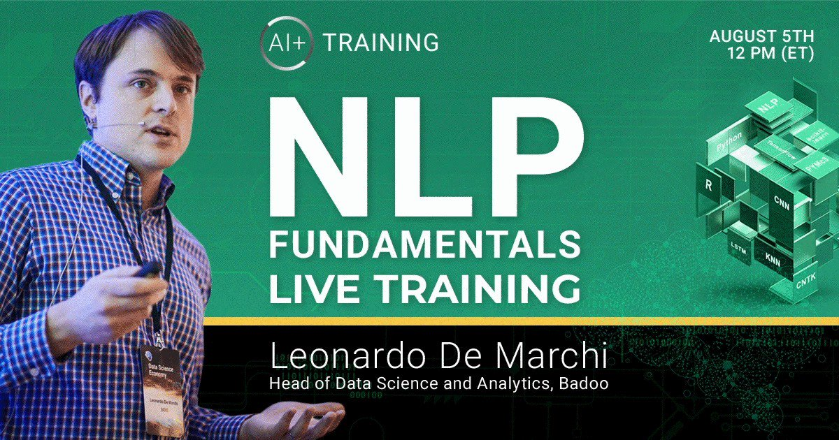 Image for the Tweet beginning: New to NLP? Learn the