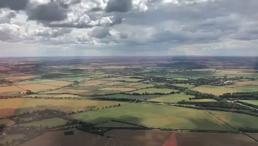 After attending a road traffic collision yesterday, Magpas CCP Andy captured these stunning views of #Cambridgeshire. After touching down at our ops base they immediately got another emergency call. Continuing to provide lifesaving care to patients in their ultimate time of need. pic.twitter.com/1b0K4U0tkK