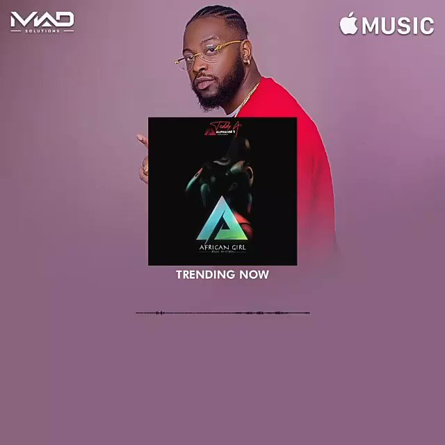 #AfricanGirl is trending on @AppleMusic , keep streaming guys. Share the link with your family and friends.   #BamTeddy  #TeddyA #entanglement  #disneyisoverpartypic.twitter.com/VNJXAqJmcM