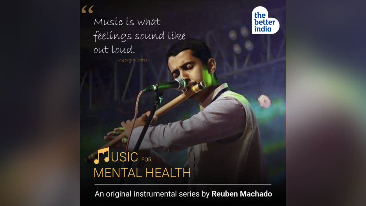 #MusicForMentalHealth Given the deep connection we have with music, it is perhaps unsurprising that numerous studies have shown it can benefit mental health. Which is why, every week, we bring to you songs under the 'Music For Mental Health' series by  Reuben Machado https://t.co/1Ko1buVwq8