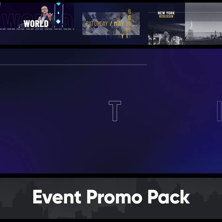 Image for the Tweet beginning: Event Promo Pack - After