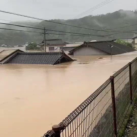 被災した球磨村の様子です。 信じられない光景に 言葉がでません。