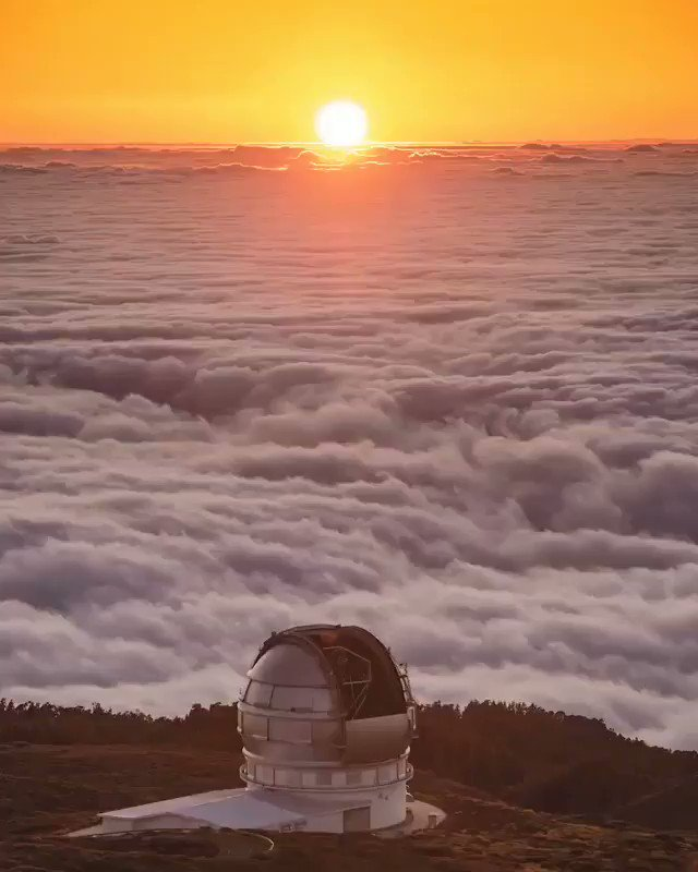 Brighter tomorrows..  And golden yester-days  But for all we have right now Is nothing but...this moment today..  ~Anthony Mondal  #sunset on top of La Palma Canary Islands (Babak Tafreshi) pic.twitter.com/Dzh9dpT5Cr