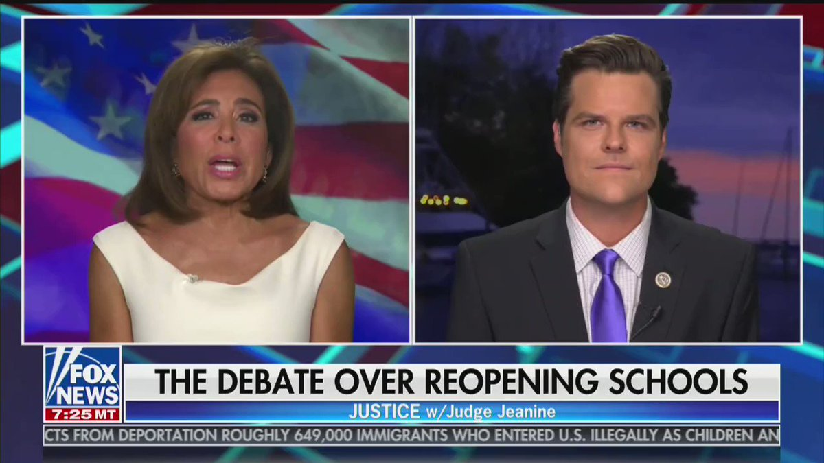 """Rep. @MattGaetz: """"There's an attempted cultural genocide going on in America right now and it calls for patriots to stand up and say this is a great country, it is worthy of our pride and our defense. The left wants us to be ashamed of America so that they can replace America."""" https://t.co/9CVCZOaTu4"""
