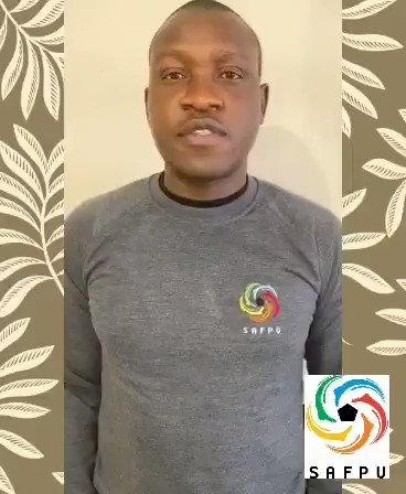 On behalf of #SAFPU - #VicePresident @tebogomonyai4 shares Kaka's professional career #RIPKhunadiNkoana #tribute #player #family #SAFPUCares