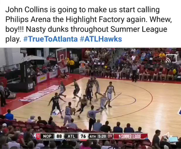 My Facebook memory from 3 years ago. I told y'all what @jcollins20_ was bringing to the @ATLHawks 😎  #TrueToAtlanta https://t.co/e6mOAHFsQ2