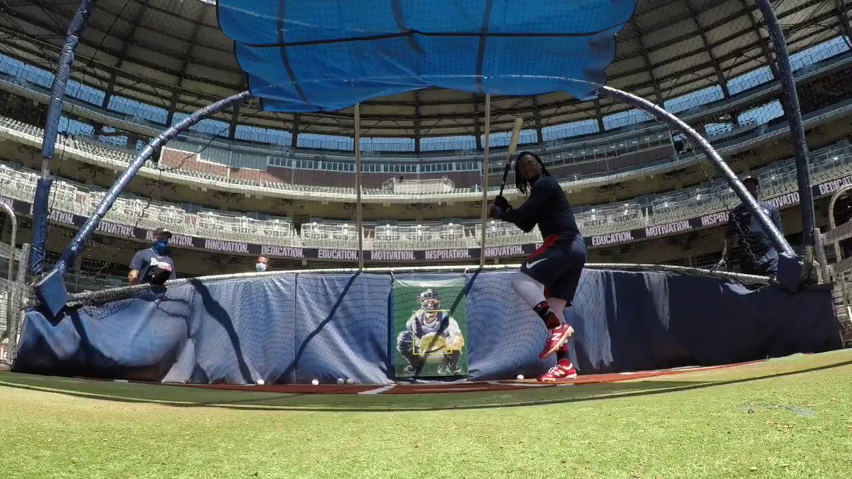 Here is a video of @ronaldacunajr24 obliterating baseballs. You're welcome. #ForTheA