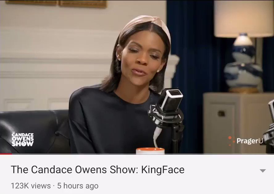 I had a great convo with @RealCandaceO I had a lot of fun if you want to watch the whole thing go on YouTube and go on PragerU page or type in Candace Owens and Kingface. I think y'all will enjoy it