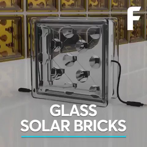 These glass #solar bricks could power entire buildings. We have solutions to the climate crisis and create millions of jobs in the process. Lets get busy and implement them. #ActOnClimate #climate #energy #GreenNewDeal #Go100re #climatestrike