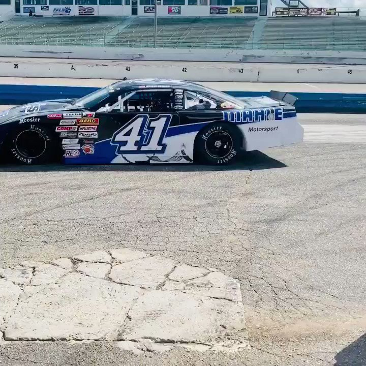 Brought the @MAHLE #41 Ford to the checker flag with a 13th & 7th place finish at @MyrtleBSpeedway in the NASCAR Whelen All American Series twin 40s.Thanks to my team and sponsors for the opportunity to continue to learn and accomplish goals week after week.@HawkMcCall @JRiShocks