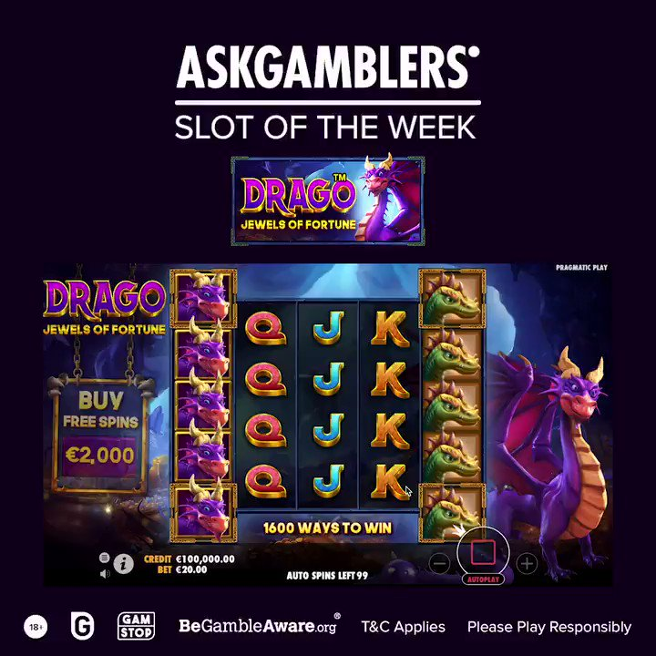 Drago - Jewels of Fortune is a new @PragmaticPlay online slot that taking you to the dragon realm to seek out treasures.   Play this scorching hot adventure for fun: https://t.co/9yld04iY7M  #AskGamblers #slotgames #bestslotgames #bestslots #slots #onlinegames #casinogames https://t.co/bHHsLxfPQw