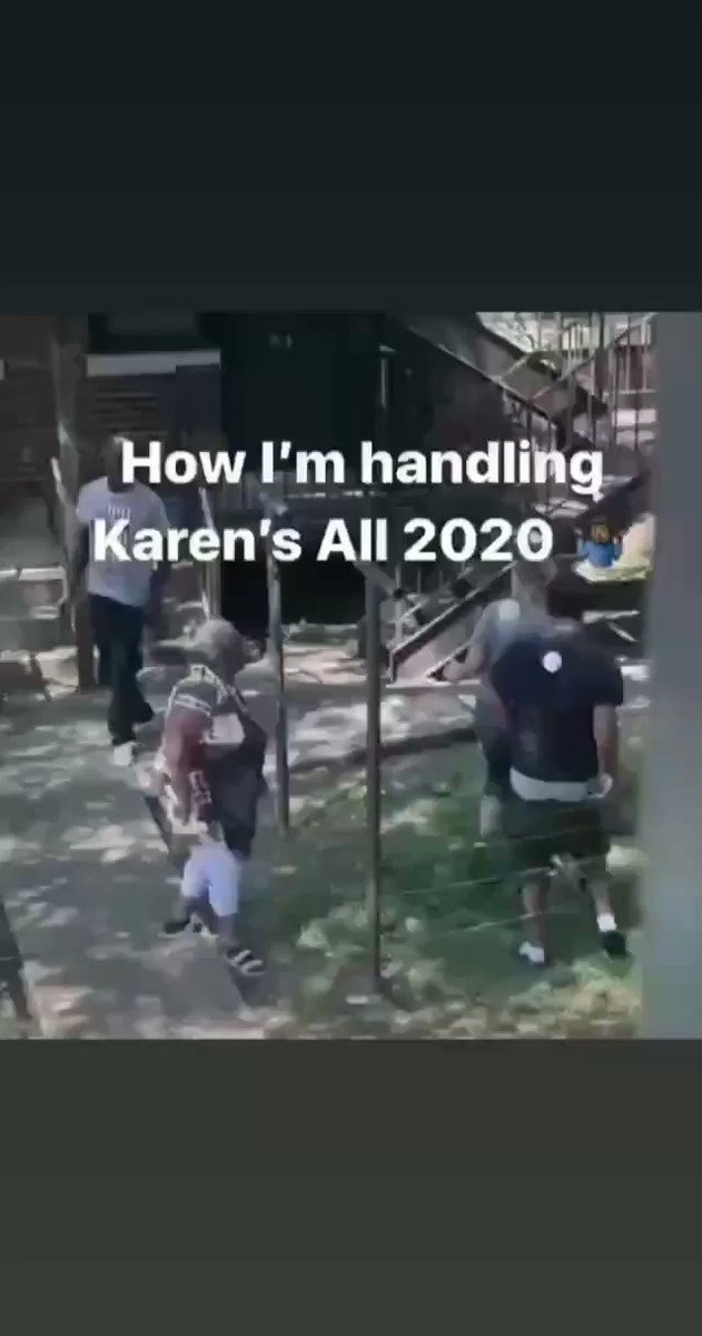 Message to Karen that do not disrespect big Mama.She got knocked out.