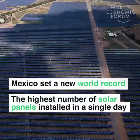 Mexico is building a #solar farm to power 1.3 million homes. They set a world record installing 18,990 #solarpanels in one day. buff.ly/2FjD9Z2 We have solutions to the #climate crisis. The only thing missing is the political will to implement them. #ActOnClimate