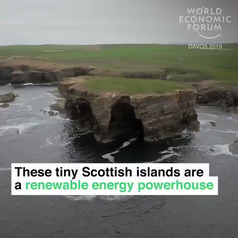 The Orkney islands, are a #renewableenergy power house. Using wind, wave and tidal power they are generating 140% of their electricity needs. We have solutions to the #climate crisis. Time for a #GreenNewDeal #ActOnClmate #energy #tech #cdnpoli #PanelsNotPipelines