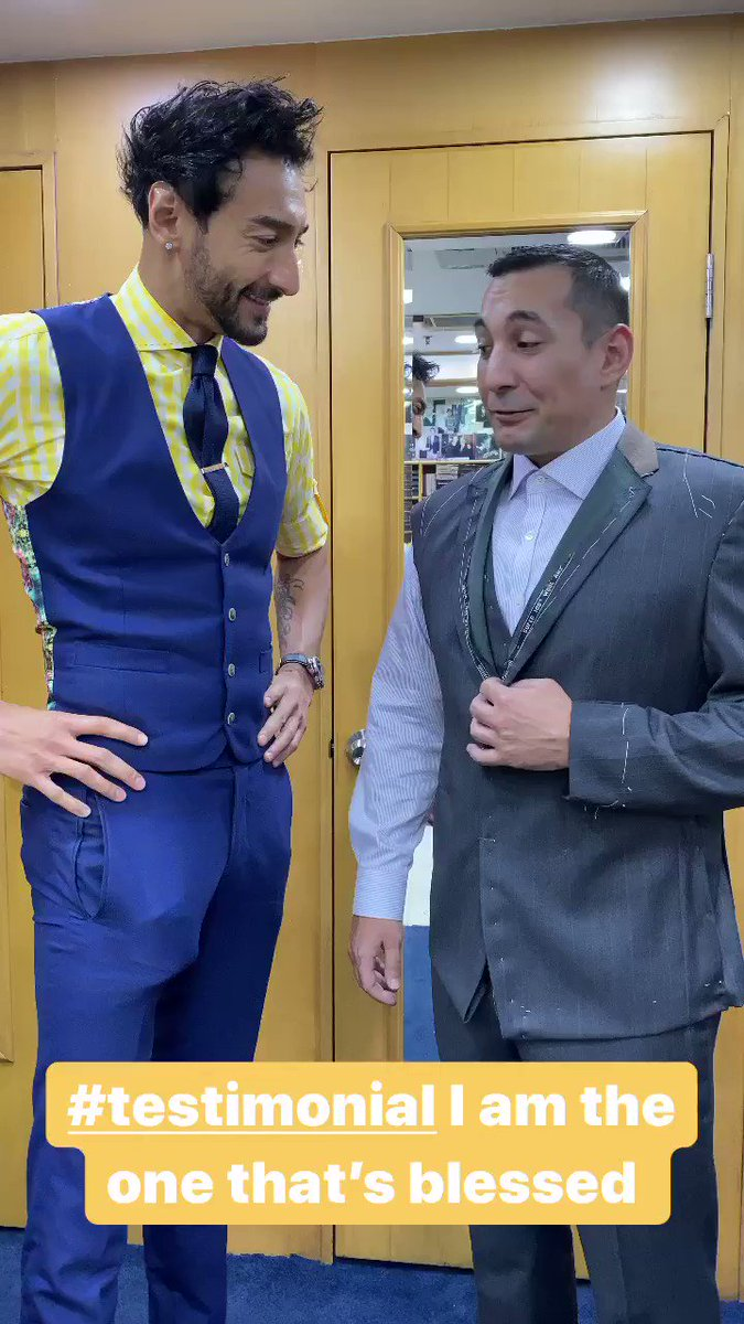 #testimonial I'm the one one who is #blessed #bespoke #suit #fitting with #roshanmelwani #menswear #hongkong