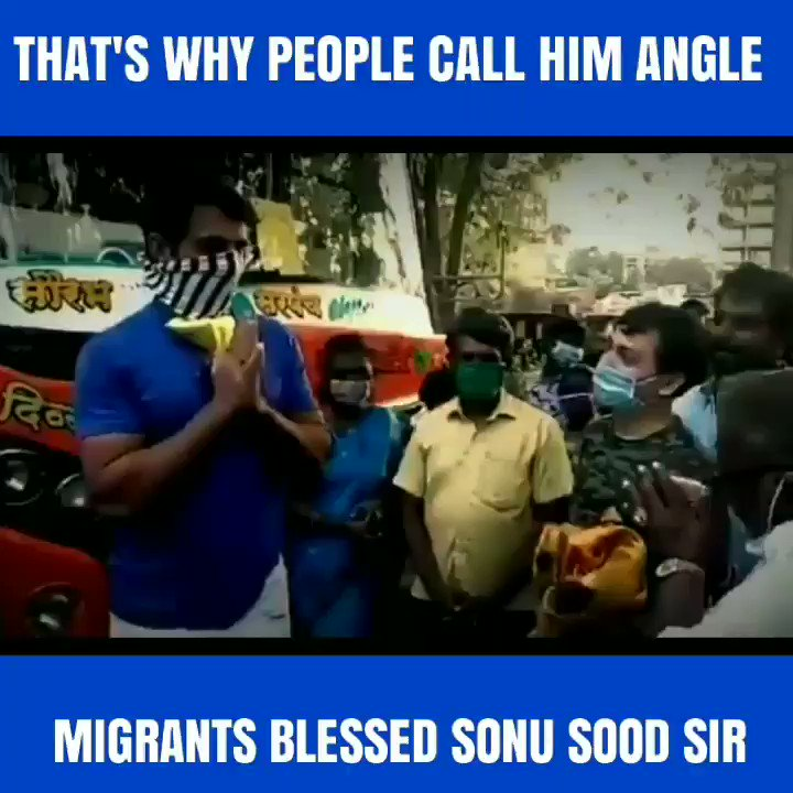 Watch till end, then you will understand that why people call @SonuSood Sir to Angle, Mashiha & Bhagwan.  #SonuSood #SonuSood_A_Real_Hero   Have a lookpic.twitter.com/coxkPuzeFb