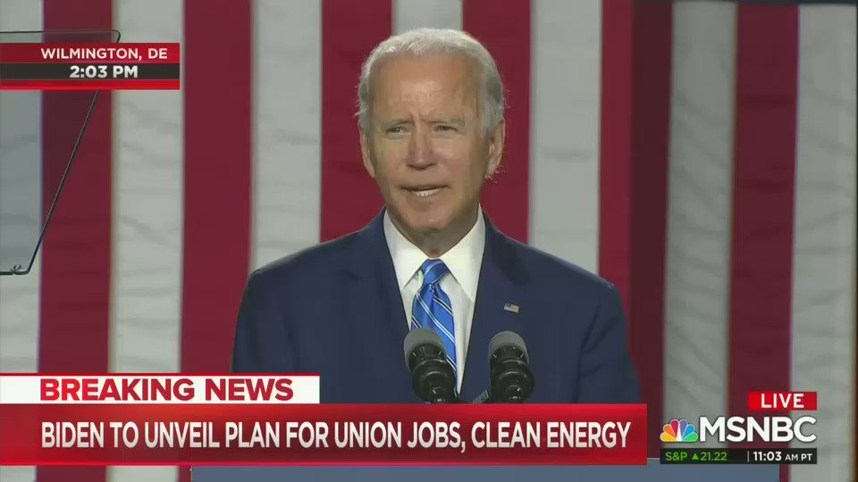 Biden tells Trump that reopen the economy isnt a strategy. Its barely a slogan, as the former vice president tells Trump to his job.