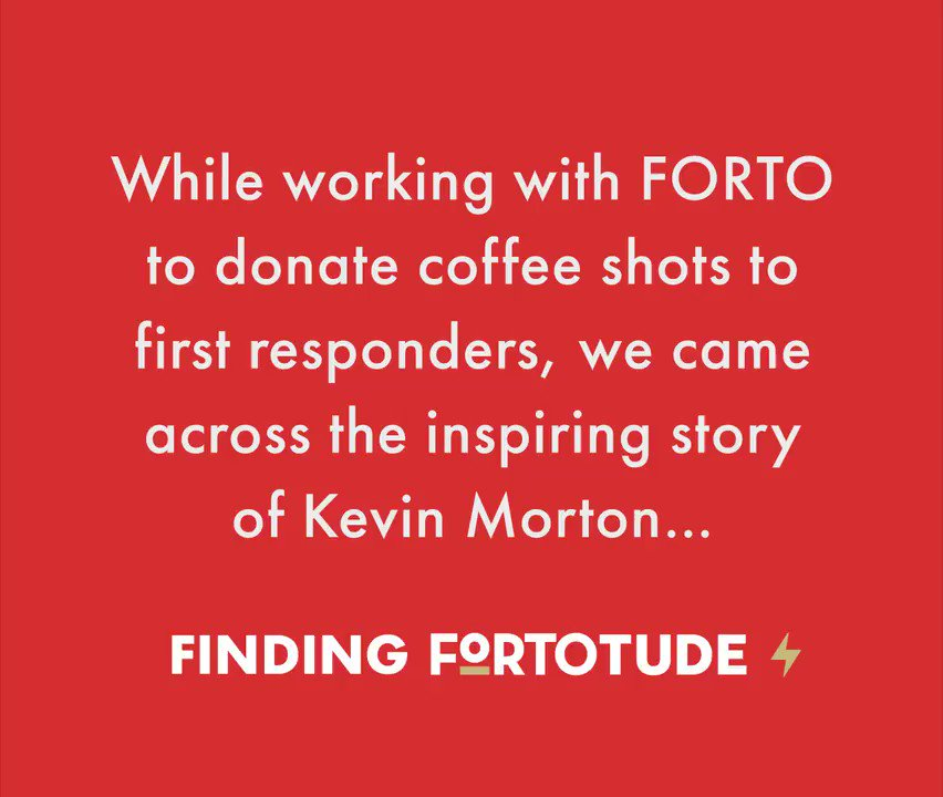 Like all of our frontline workers, Kevin Morton is a true hero. To see how you can help us reach 1 million coffee shot donations through our First Responder program:  #fortopartner