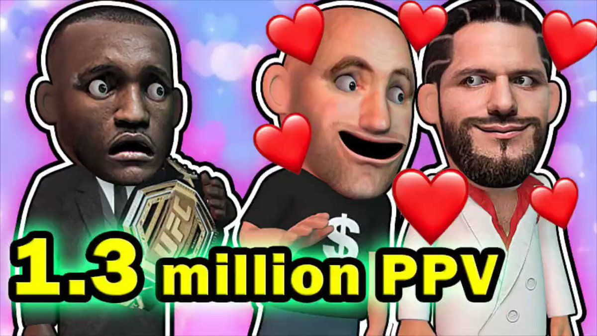 Dana loves Jorge Masvidal for 1.3 Million PPV buys  #UFC251 #UFC #Animation #3DArt  https://t.co/hyUE9WZ2tQ https://t.co/RTq6AVVJYW