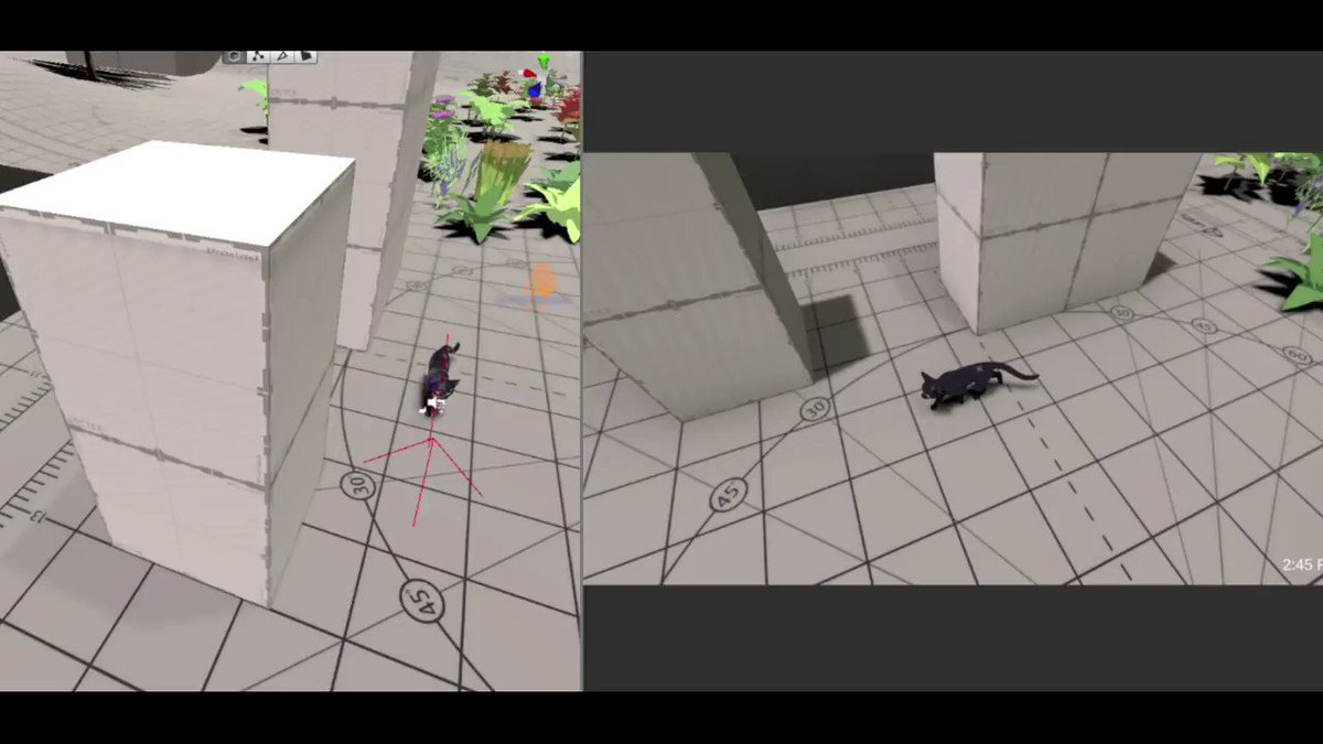 I recently implemented wall sliding which feels a lot better when you jump against a wall. Of course then I had to implement the ledge climb up if you were close enough and press up. Still a bit rough, but feels pretty good.  #LittleKittyBigCity #gamedev #indiedev https://t.co/RAnZeoNpM8