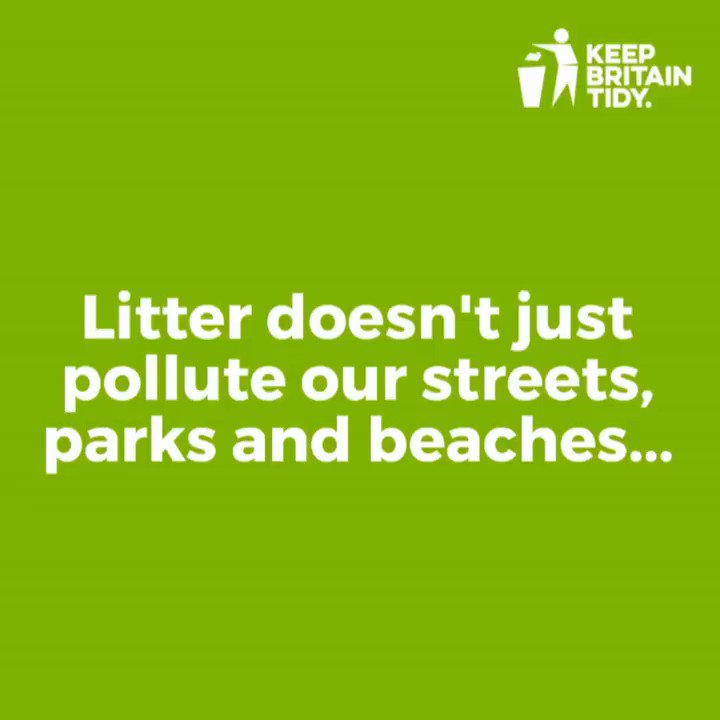 Image for the Tweet beginning: Litter doesn't just pollute our