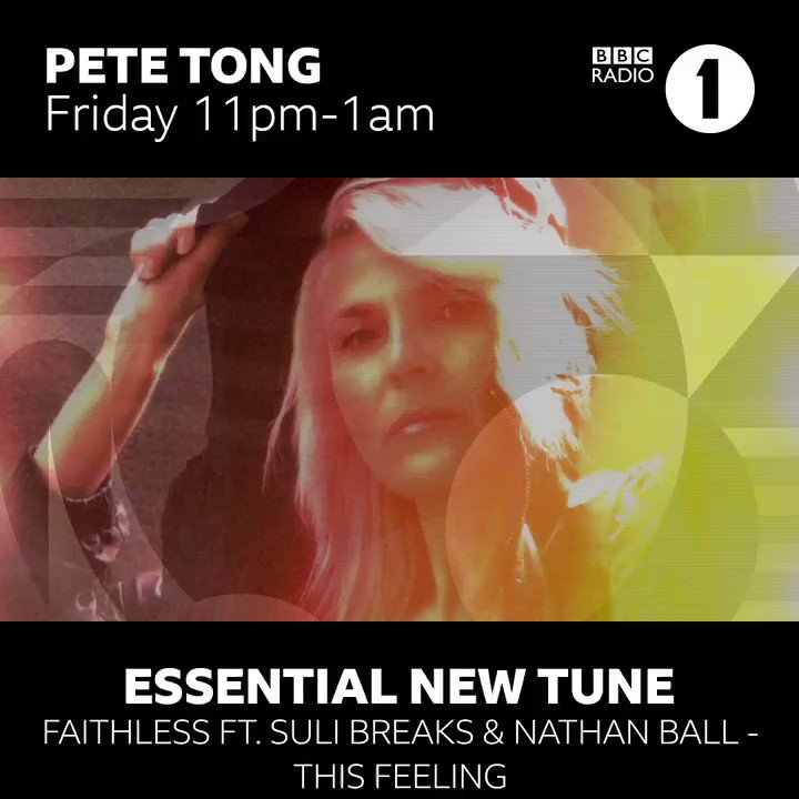 #ThisFeeling was @petetong's Essential New Tune last night on @BBCR1. Thank you for the love. #EssentialNewTune  You can listen to This Feeling here: Faithless.lnk.to/ThisFeelingTW