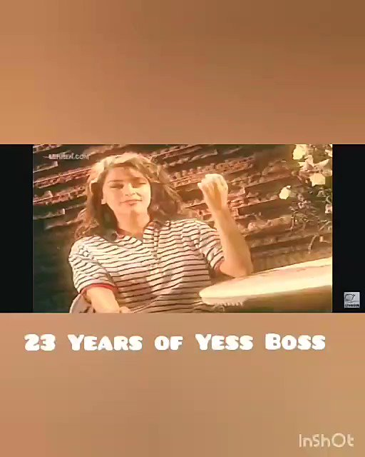 23 years of Yes Boss 😯🙏 A big thank you to everyone who send in messages every year wishing us & remembering the film ❤️ I feel blessed & grateful to have made films which everyone enjoyed & remember with such affection 🤩🙏 @iamsrk #23YearsOfYesBoss