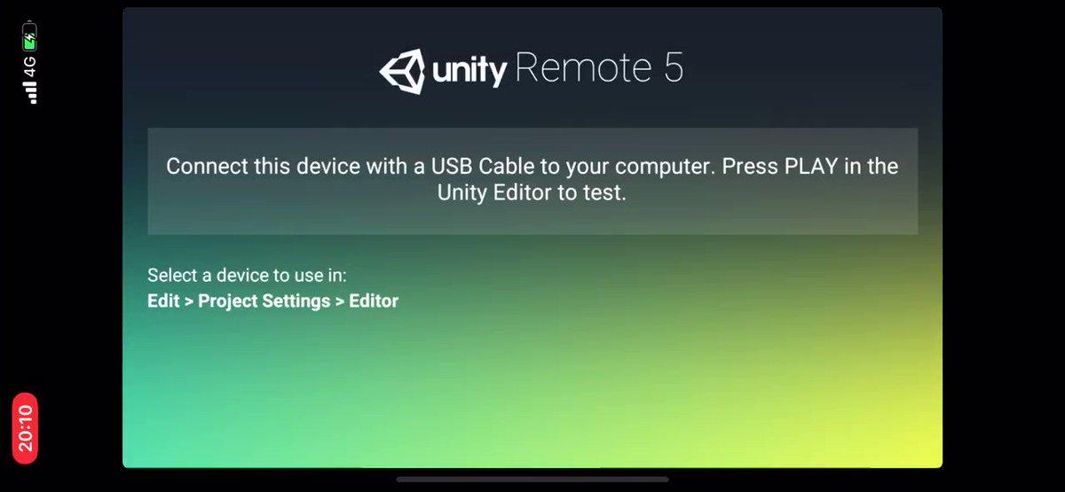 Image for the Tweet beginning: Unity remoteで確認できることがわかって楽しさアップ #Unityの教科書