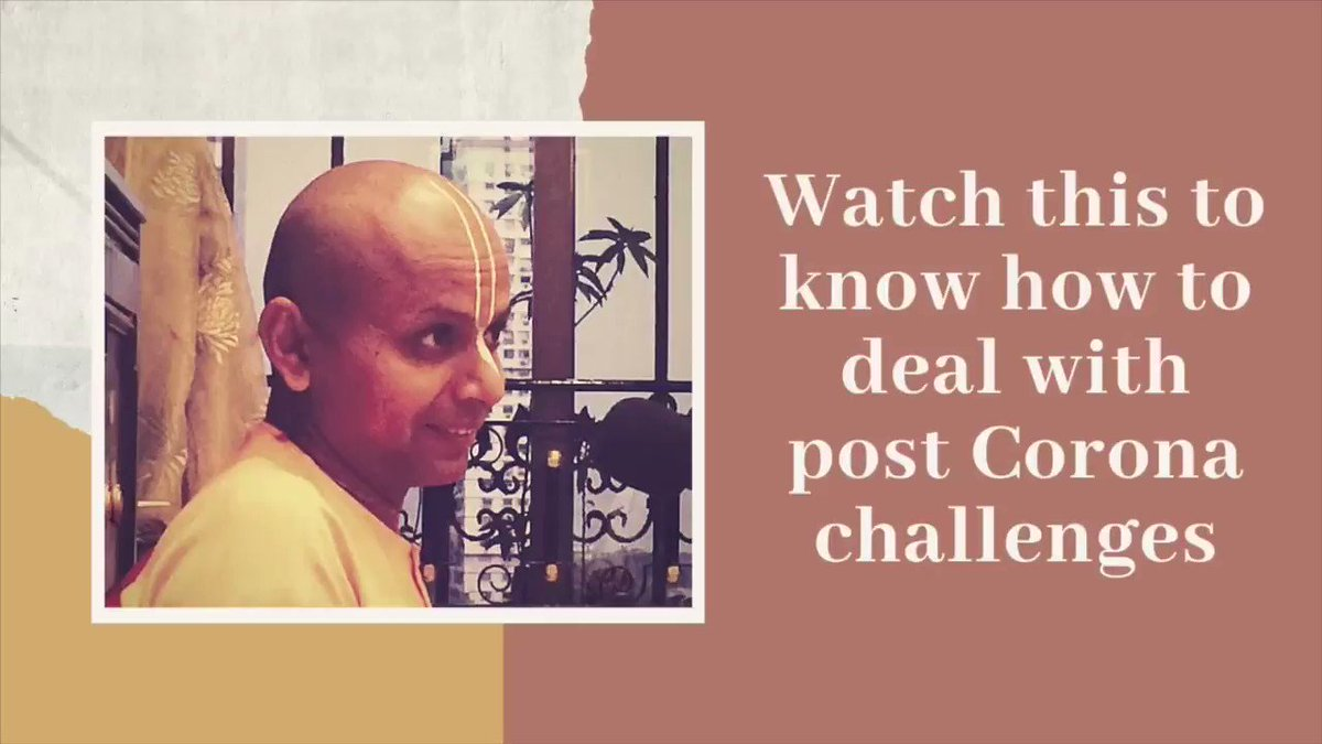 Watch the full video to know why I don't carry pounds when I travel to 🇬🇧 and what does it have to do with dealing with post corona challenges. Full video at: youtu.be/pyP3uYYoJw0 facebook.com/gaurgopald/vid… #MondayMorning #MondayMotivation #mondaythoughts #MondayMotivaton