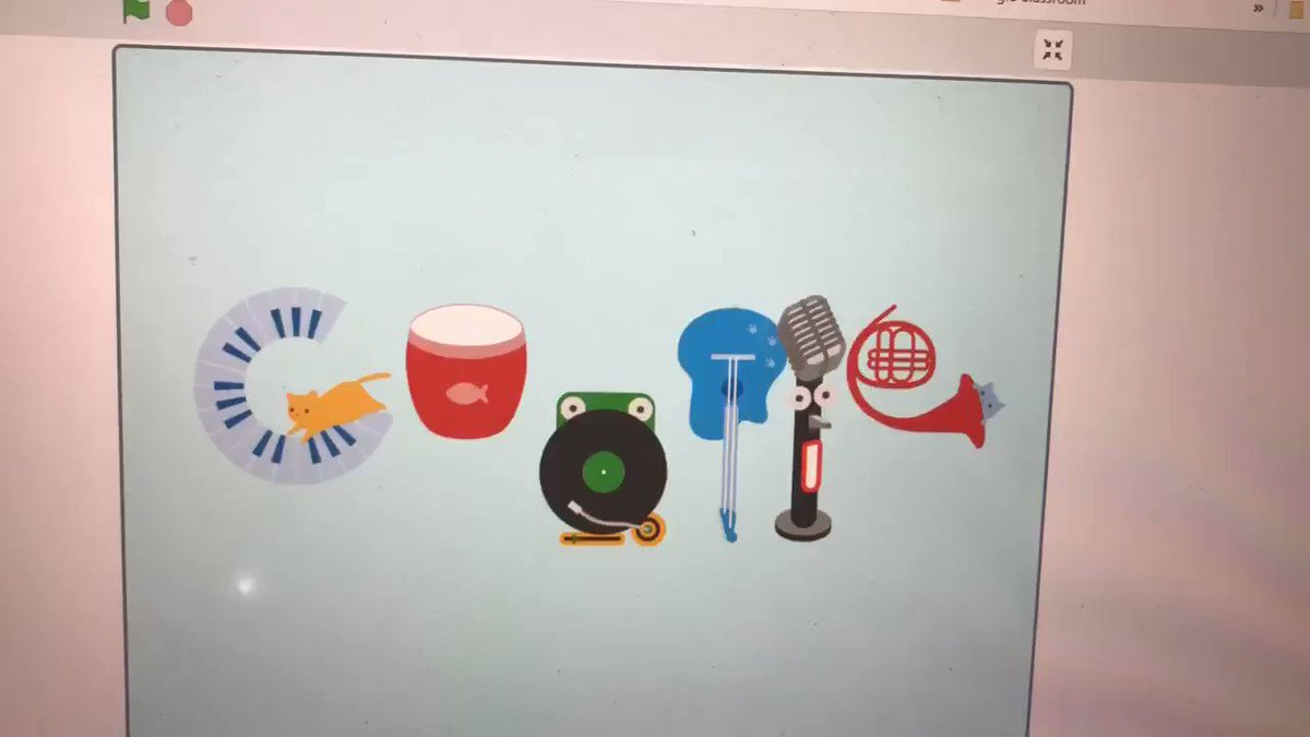 """World Music Day or Fête de la Musique is an annual celebration that takes place on June 21 to honour amateur and professional musicians alike- Hindustan Times. Grades 7s are busy coding google logos. """"Music Day"""" by Zaara. @MauroPaluzzi @TWPublicSchool"""