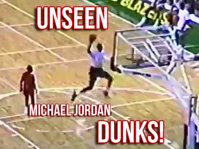 Dope UNSEEN Michael Jordan dunks. Also has him doing a 3 point contest left handed and 3 consecutive ft line dunks.  https://t.co/M8DrR9COij (video via Scott Perry) https://t.co/p6MTZiYE8z