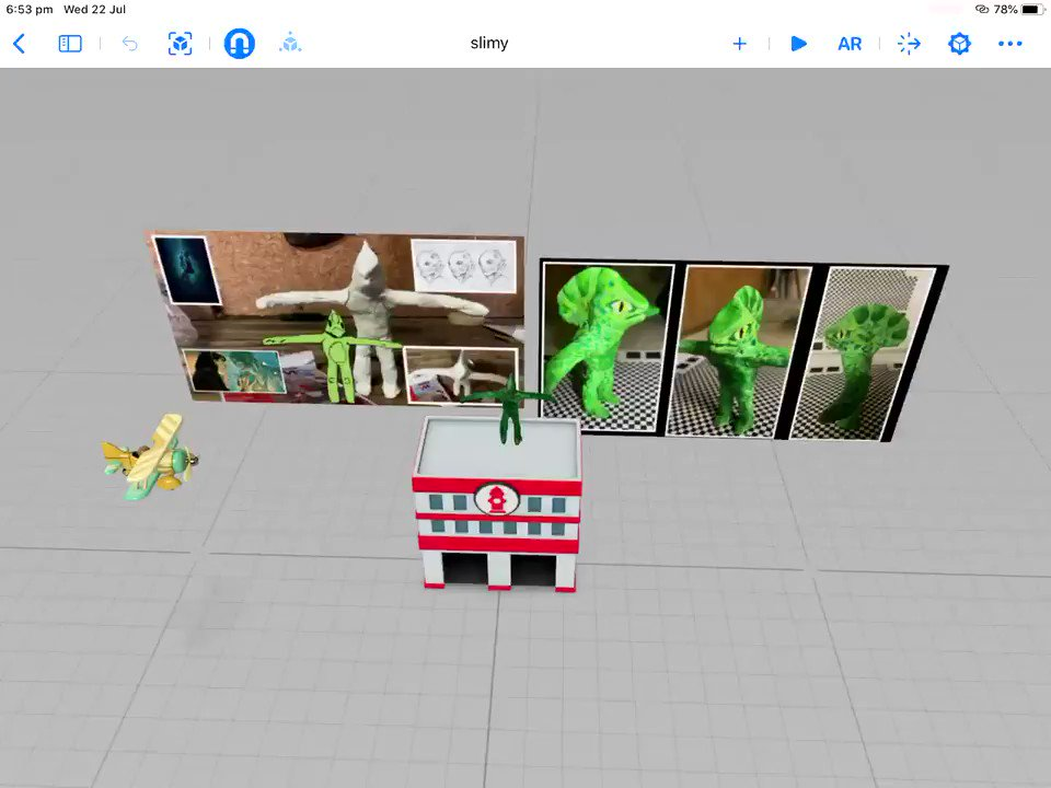 And Bob in #Realitycomposer From Clay to Digital. #digitalstorytelling @AppleEDU @Mixamo
