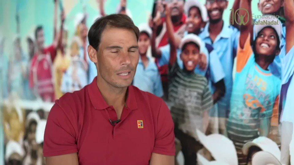 Rafa Nadal sobre los 10 años de la #FundaciónRafaNadal ¡Una década promoviendo el deporte como herramienta para el desarrollo personal y social! #FRN10años #RafaNadal  @RafaelNadal https://t.co/QrEN5YV4sp