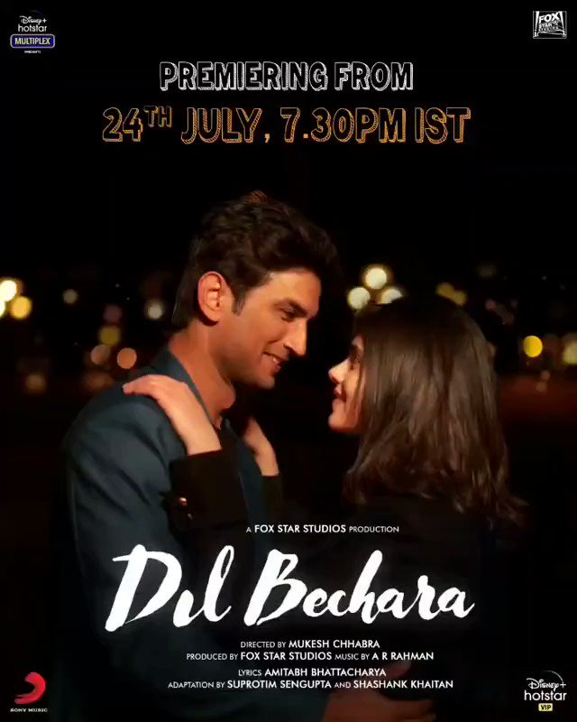 The STAR is gone...but his brightness will shine in our hearts forever! Let's all together celebrate #Sushant's exceptional talent one last time... #DilBechara releasing tomorrow! Show your support🙏 #SushantSinghRajput #DilBecharaTomo