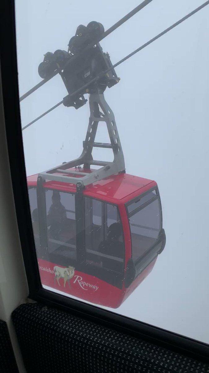 濃霧の影響で?御在所ロープウェイが怖すぎる状況に!