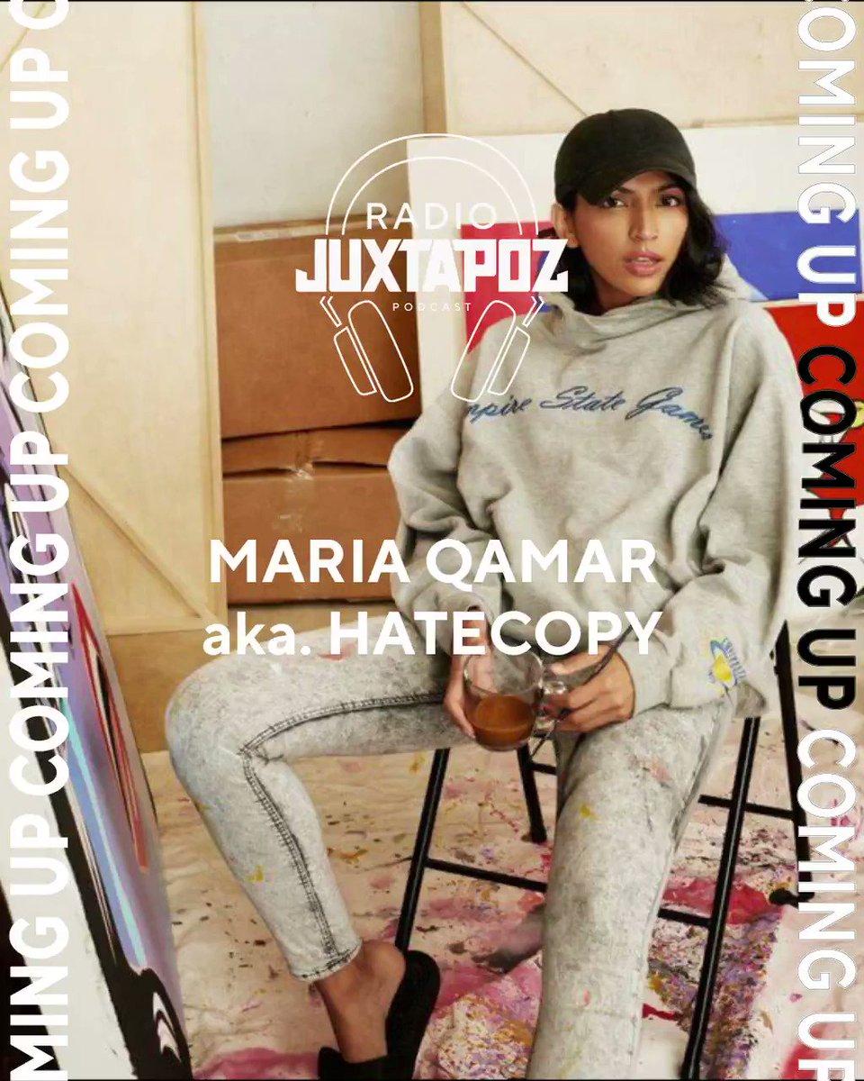 Up next on the #RadioJuxtapoz podcast: Maria Qamar, aka #HateCopy https://t.co/XYmTJslYW1 https://t.co/QOoIuVFDTk